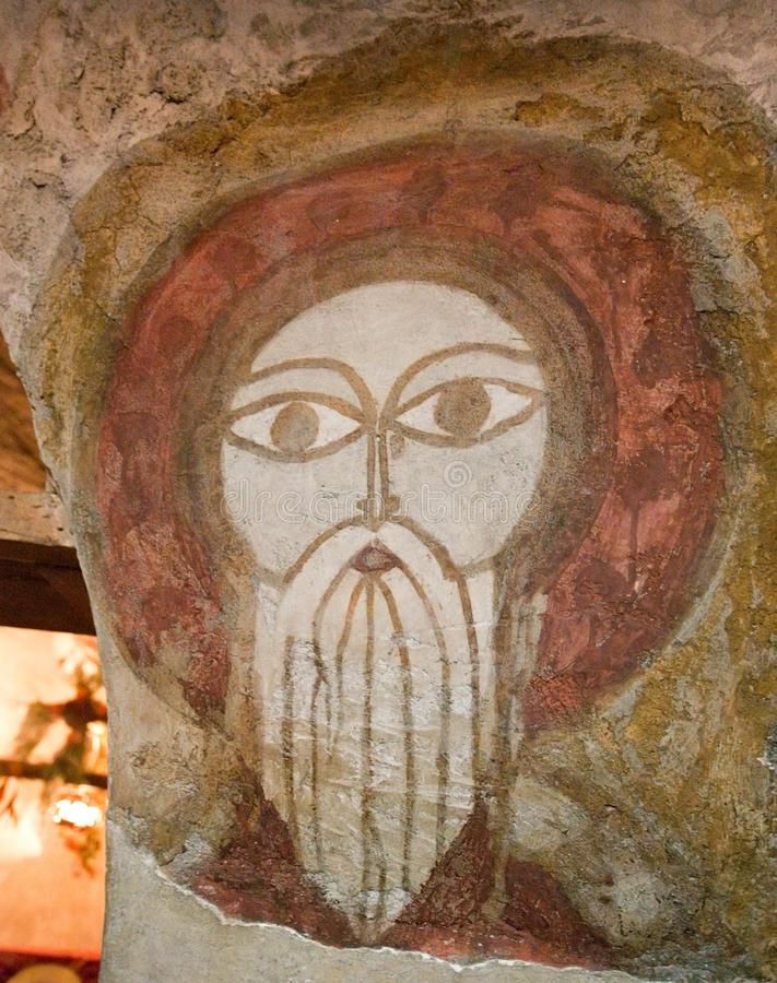 Фреска в коптском монастыре