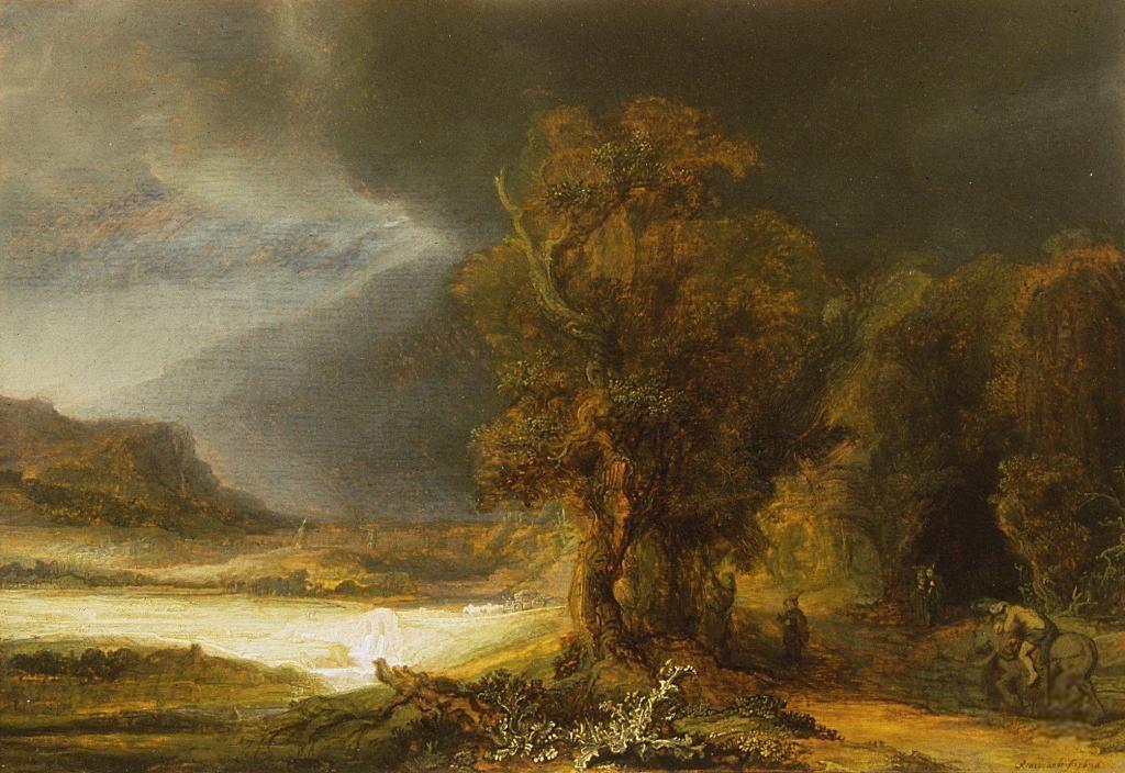 Рембрандт пейзаж с добрым самарянином